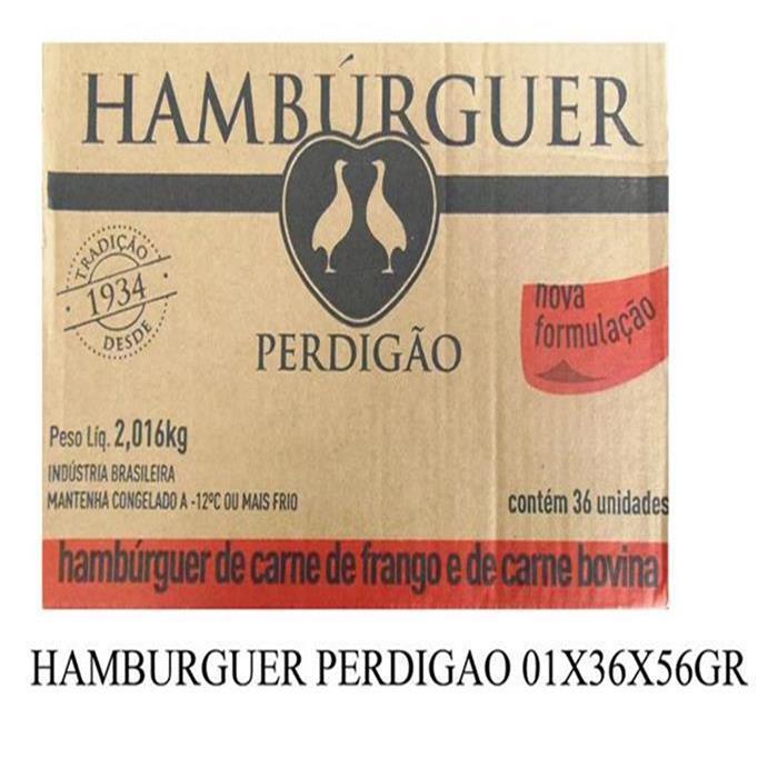 HAMBURGUER PERDIGAO 01X36X56GR