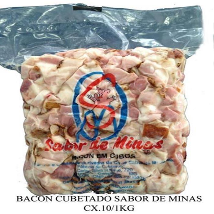 BACON CUBETADO AZUL SABOR DE MINAS 10/1K