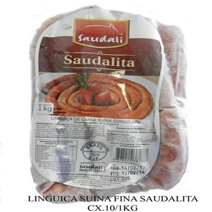 LINGUICA SUINA FINA SAUDALITA CX.12/1KG