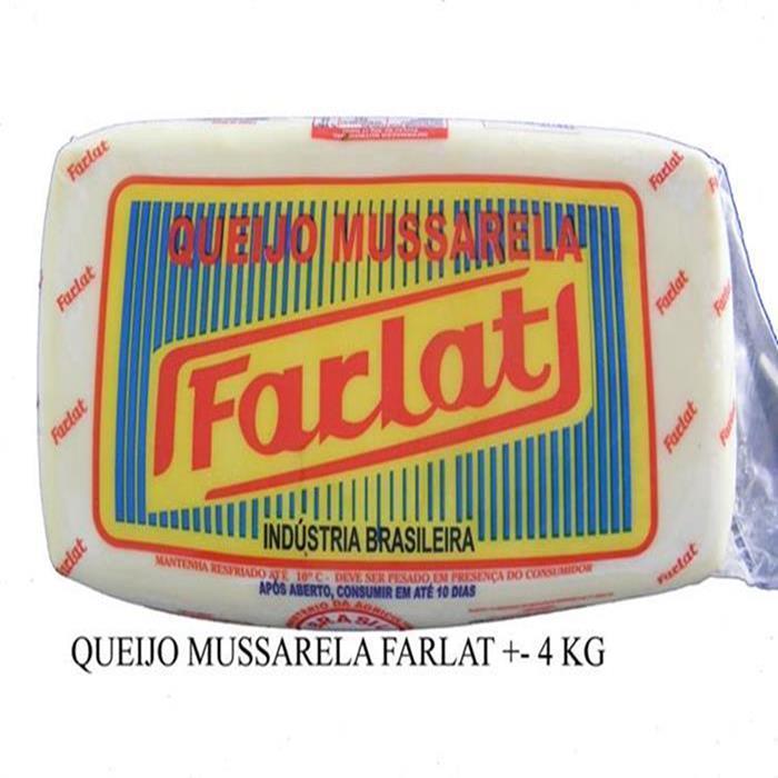 QUEIJO MUSSARELA FARLAT 6PC/+- 25,920KG