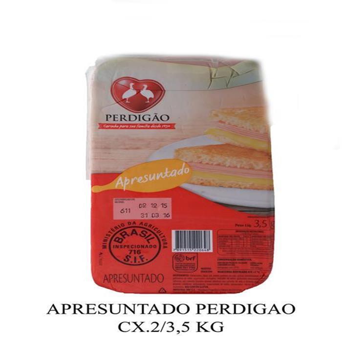 APRESUNTADO PERDIGAO CX.2/3,5 KG