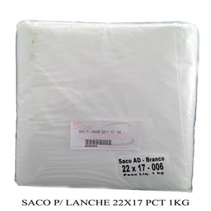 SACO P/ LANCHE 22X17 CX. 20/1KG