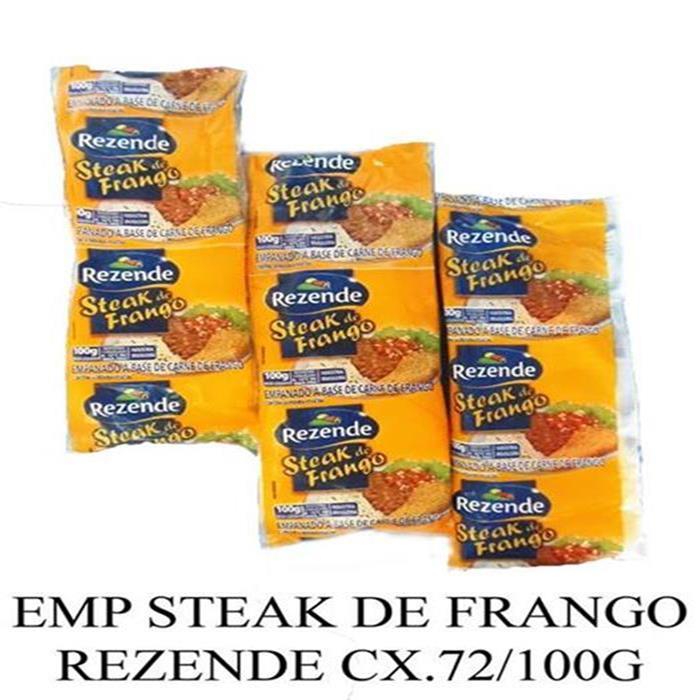 EMP STEAK DE FRANGO REZENDE CX.72/100G