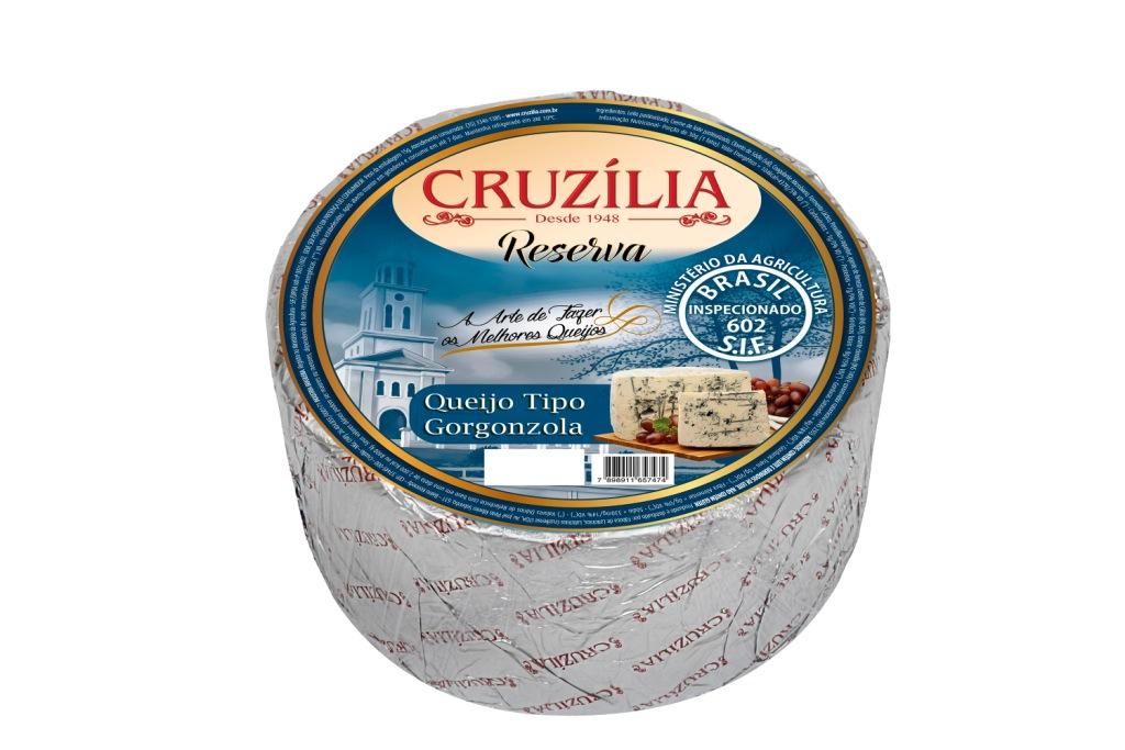 QUEIJO GORGONZOLA CRUZILIA CX 2PC/+-3KG