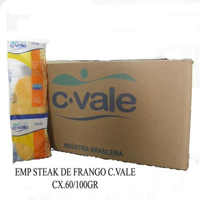 EMP STEAK DE FRANGO C.VALE CX.60/100G