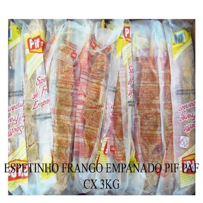 ESPETINHO FRANGO EMPANADO PIF PAF CX 3KG