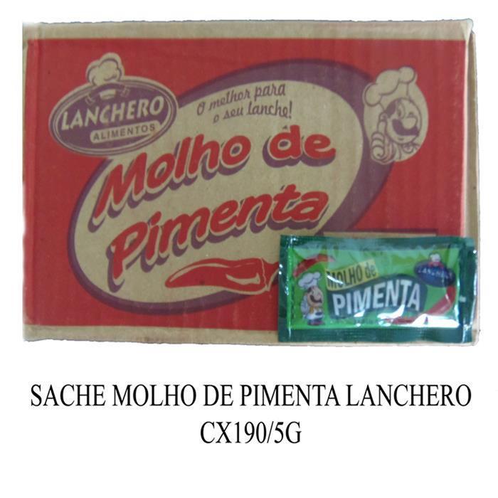 SACHE MOLHO DE PIMENTA LANCHERO CX190/5G