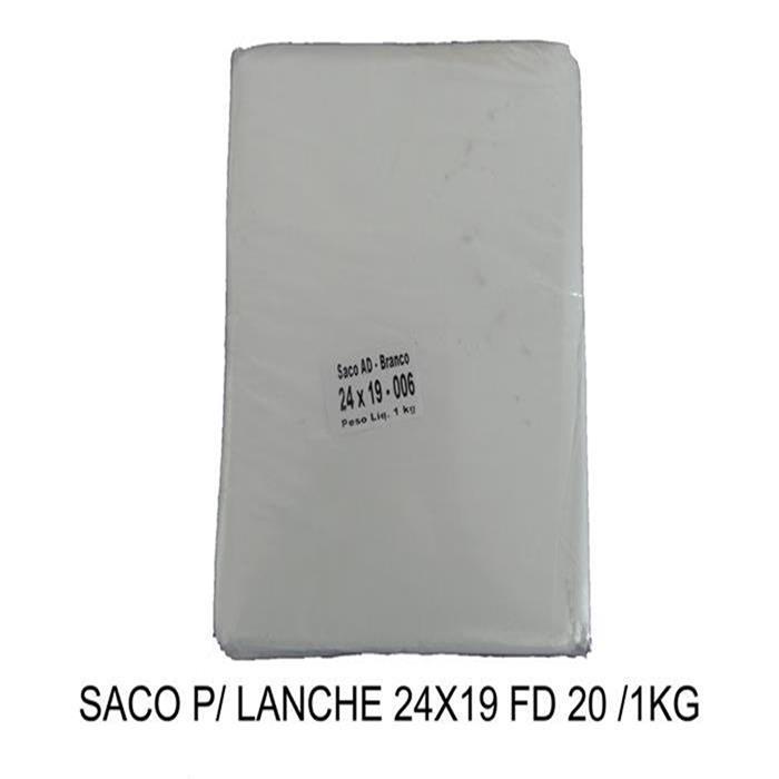 SACO P/ LANCHE 24X19 FD 20 /1KG
