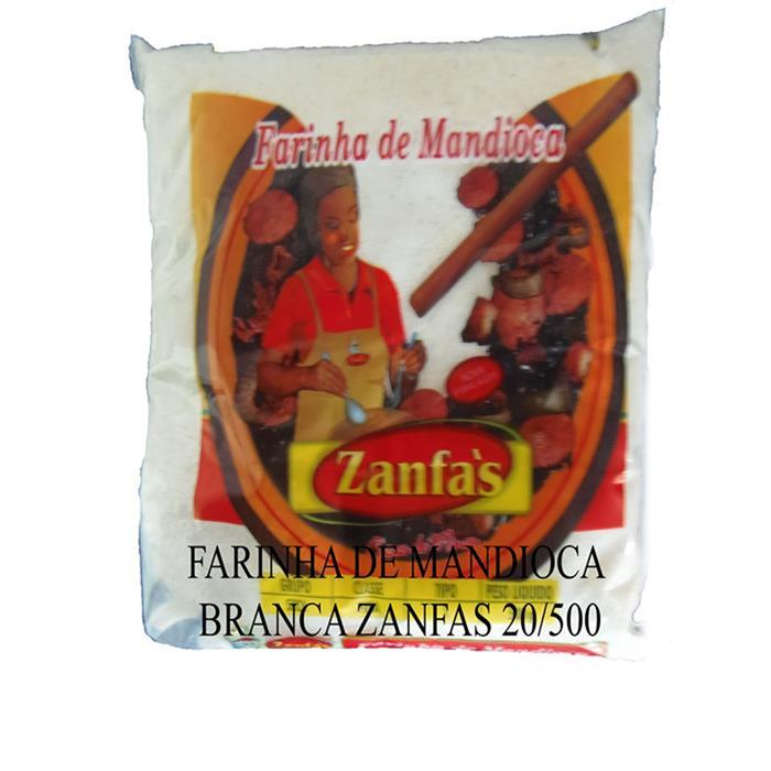 FARINHA DE MANDIOCA BRANCA ZANFAS 20/500