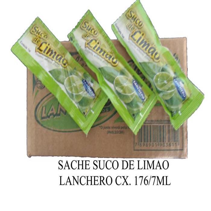 SACHE SUCO DE LIMAO LANCHERO CX. 176/7ML