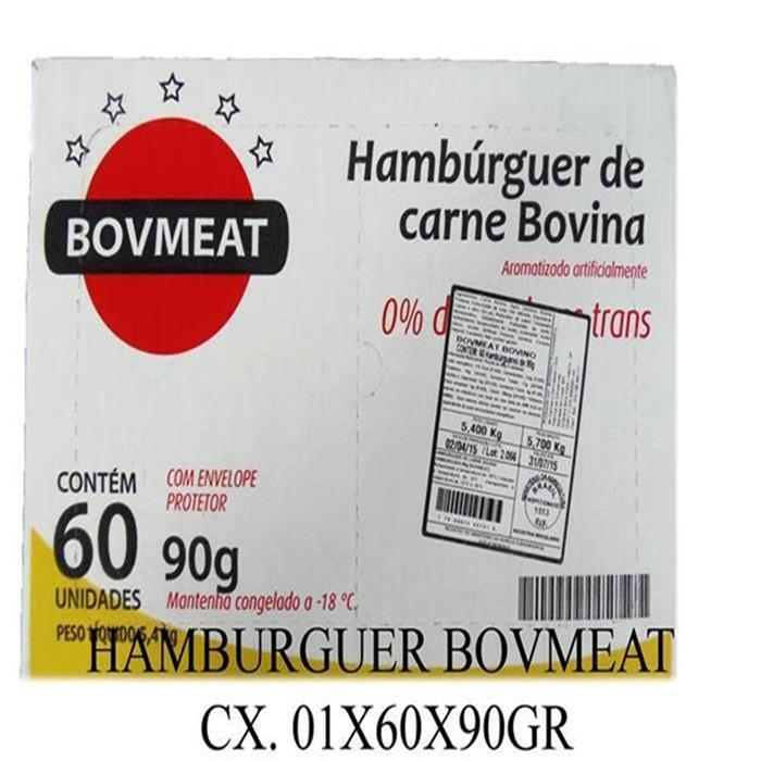 HAMBURGUER BOVMEAT CX. 01X60X90GR