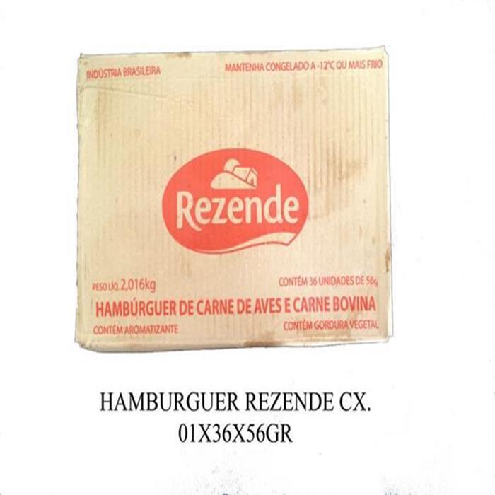 HAMBURGUER REZENDE CX. 01X36X56GR