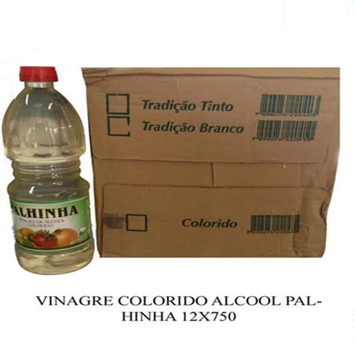 VINAGRE ALCOOL COLORIDO PALHINHA 12X750