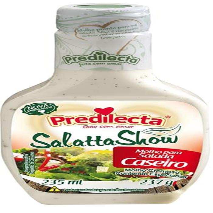MOLHO SALADA CASEIRO PREDILECTA 12/235ML