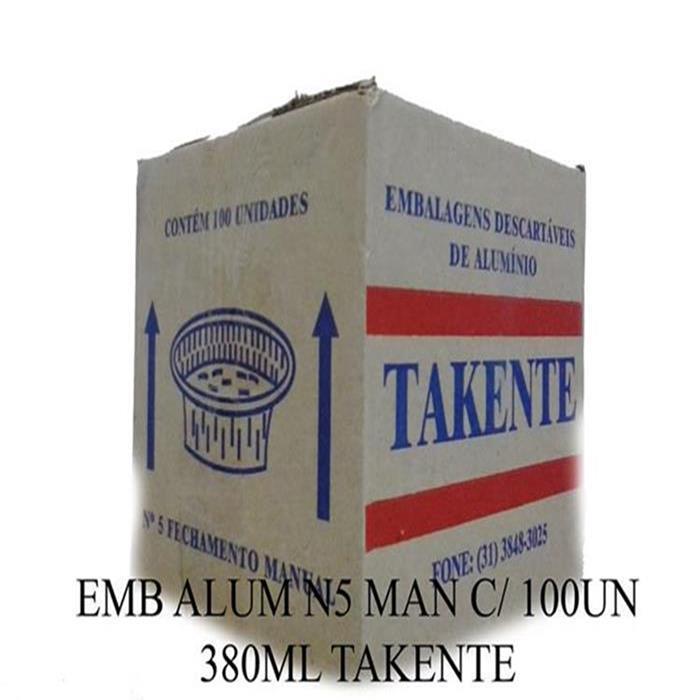 EMB ALUM N5 MAN C/ 100UN 380ML TAKENTE