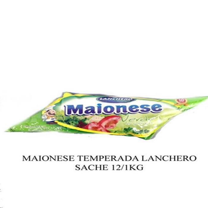 MAIONESE TEMPERADA LANCHERO SACHE 12/1KG