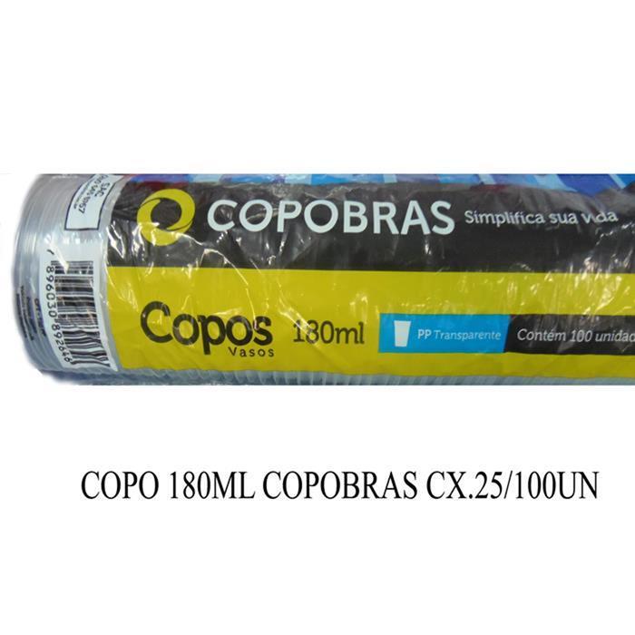 COPO 180ML COPOBRAS CX.25/100UN
