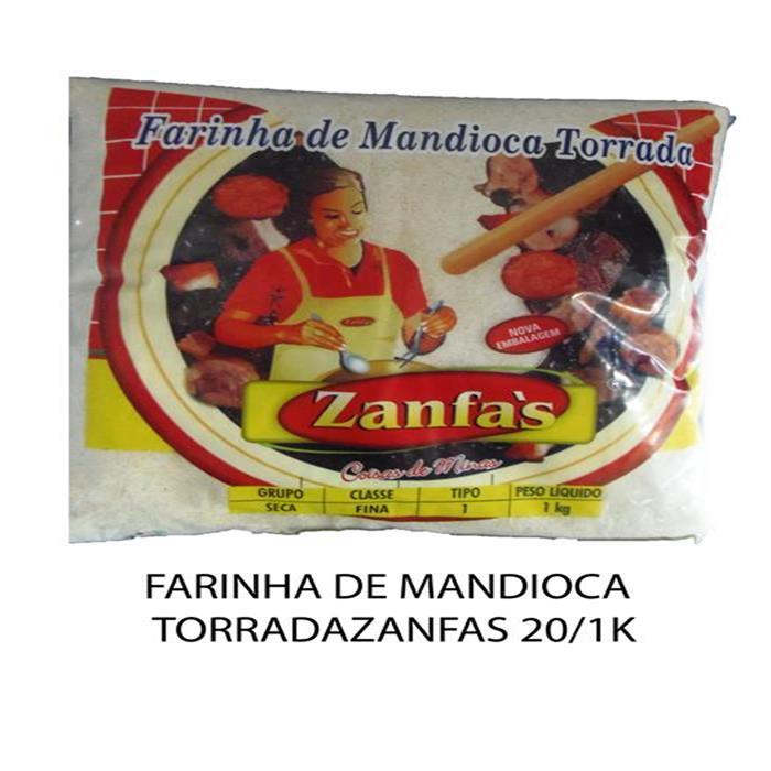 FARINHA DE MANDIOCA TORRADA ZANFAS 20/1K
