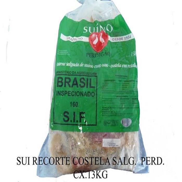SALGADO RECORTE COSTELA PERD. CX.13KG