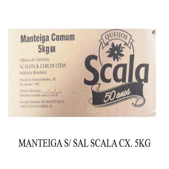 MANTEIGA S/ SAL SCALA CX. 5KG