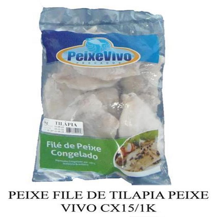PEIXE FILE DE TILAPIA PEIXE VIVO CX15/1K
