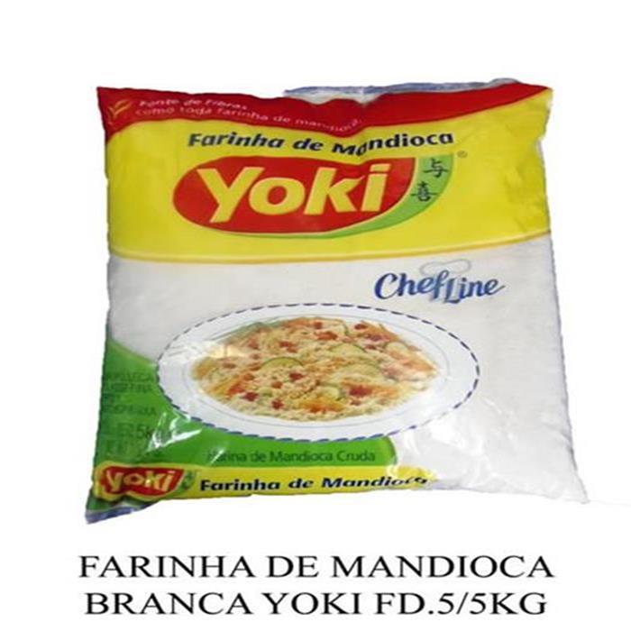 FARINHA DE MANDIOCA BRANCA YOKI FD.5/5KG