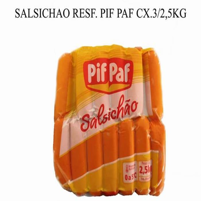 SALSICHAO RESF. PIF PAF CX 3/2,5KG