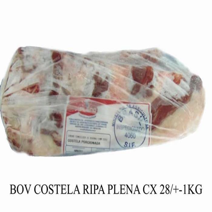 BOV COSTELA TIRAS PORC.PLENA +-28PC+-1KG