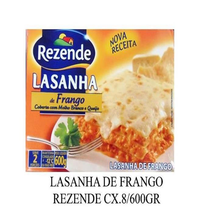 LASANHA DE FRANGO REZENDE CX.8/600GR