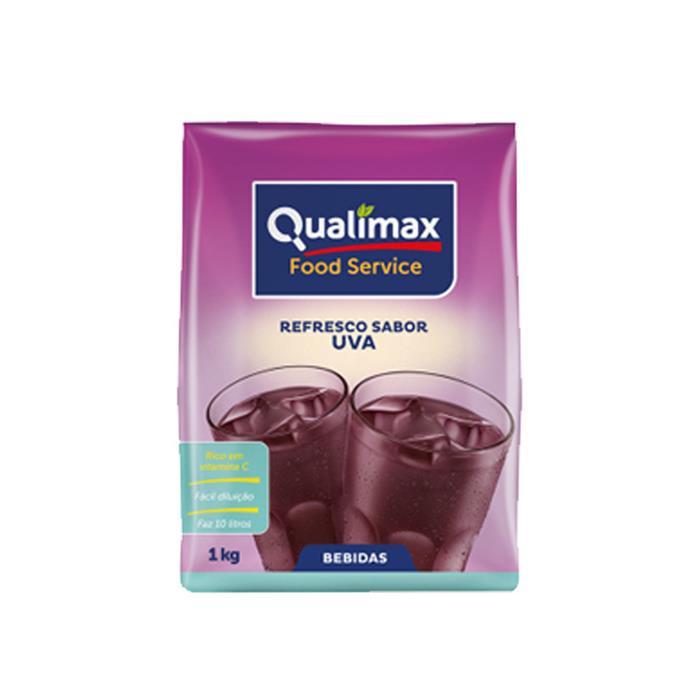 REFRESCO EM PO UVA QUALIMAX CX 10/1KG