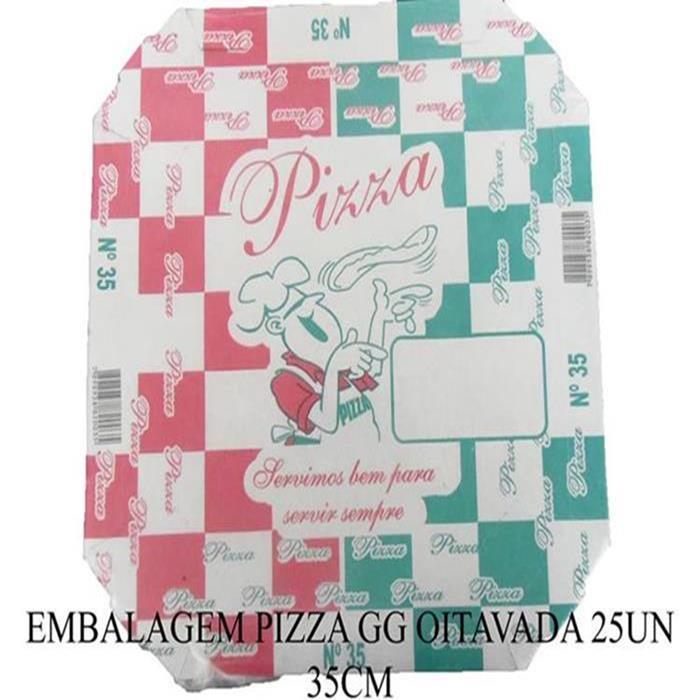 EMBALAGEM PIZZA GG OITAVADA 25UN 35CM
