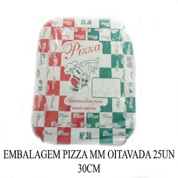EMBALAGEM PIZZA MM OITAVADA 25UN 30CM