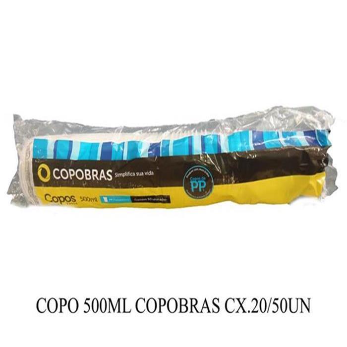 COPO 500ML COPOBRAS CX.20/50UN