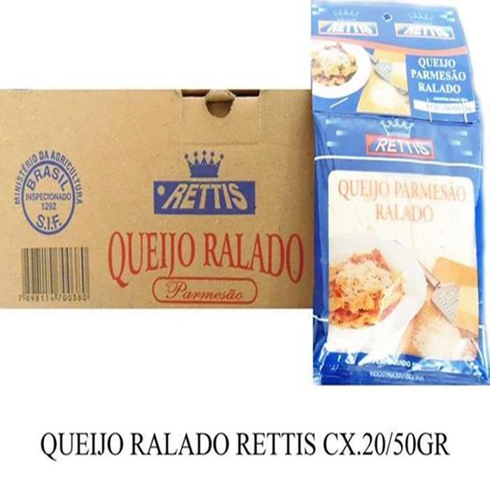 QUEIJO RALADO RETTIS CX.20/50GR