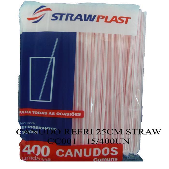 CANUDO REFRI 25CM STRAW CC001 - 15/400UN