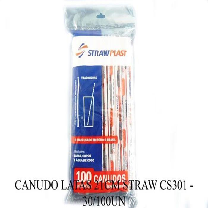 CANUDO LATAS 21CM STRAW CS301 - 30/100UN