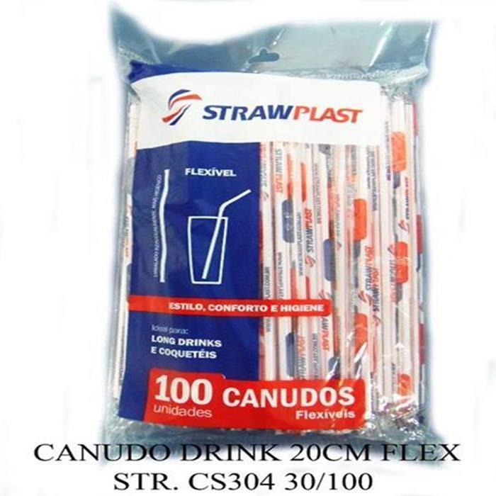 CANUDO DRINK 20CM FLEX STR. CS304 30/100
