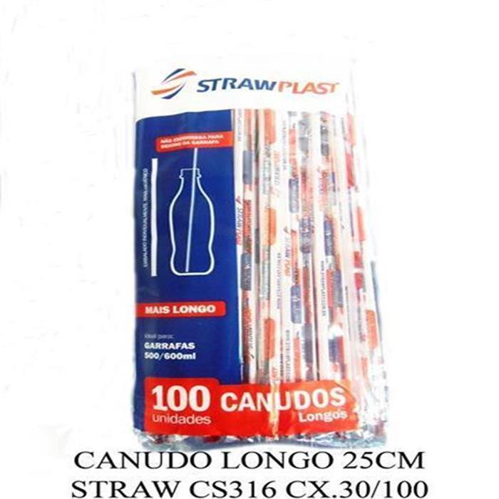 CANUDO LONGO 25CM STRAW CS316 CX.30/100
