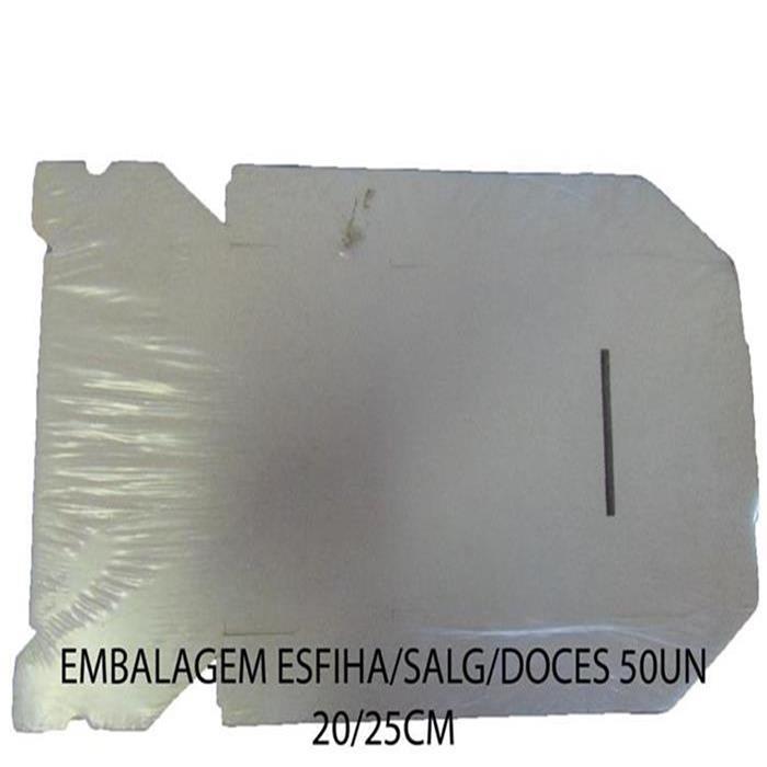 EMBALAGEM ESFIHA/SALG/DOCES 50UN 20/25CM