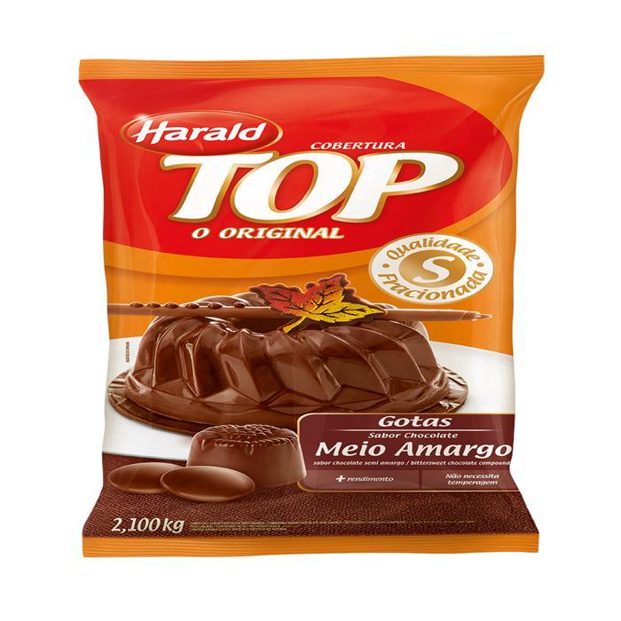 CHOC TOP GOTAS MEIO AMARGO HARALD 5/2,1