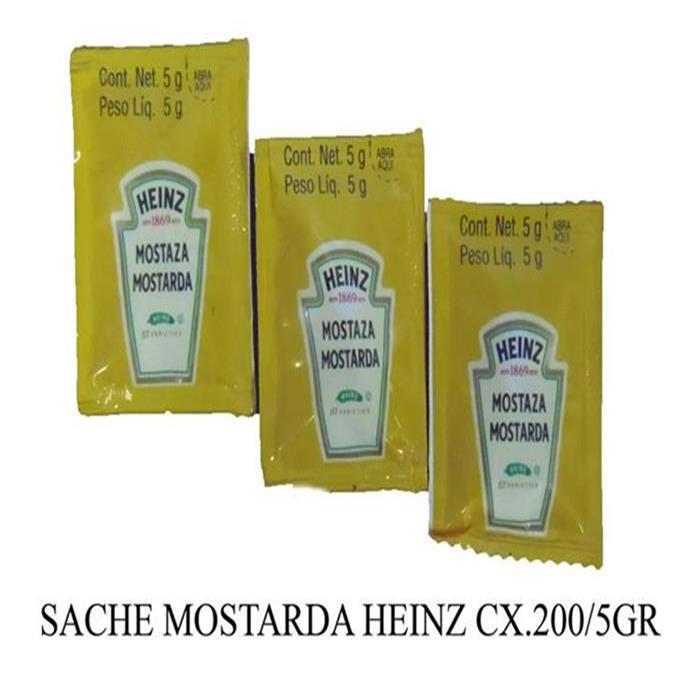 SACHE MOSTARDA HEINZ CX.192/5GR