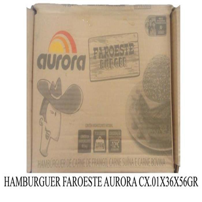 HAMBURGUER FAROESTE AURORA CX.01X36X56GR