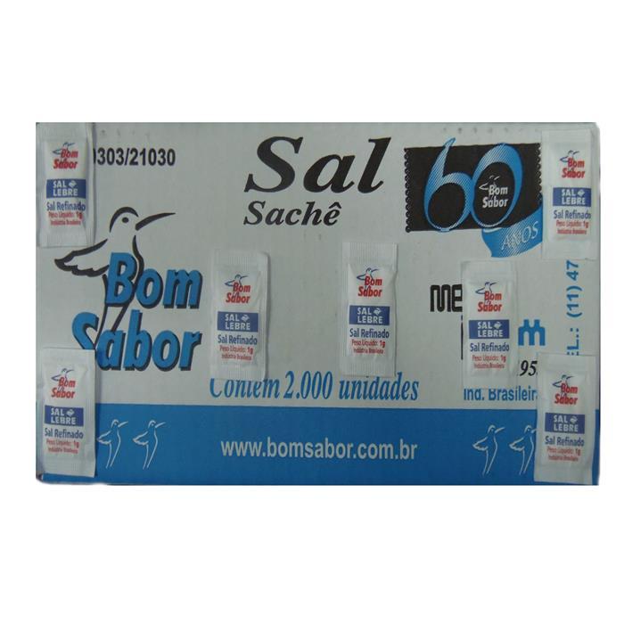 SAL SACHE REFINADO BOM SABOR CX2000/1GR