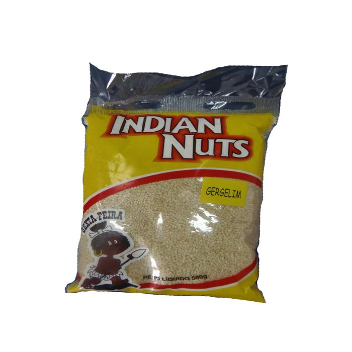 SEMENTE GERGELIM INDIAN NUTS CX.25/500GR