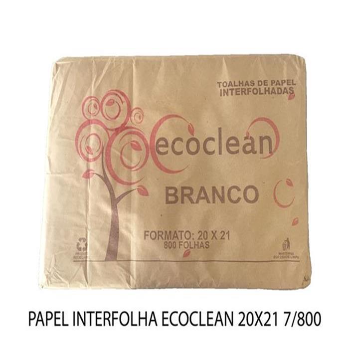 PAPEL INTERFOLHA ECOCLEAN 20X21 7/800