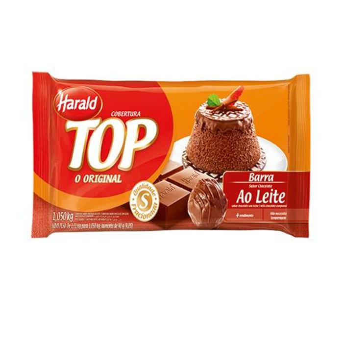 CHOC TOP AO LEITE HARALD CX.10/1,05G