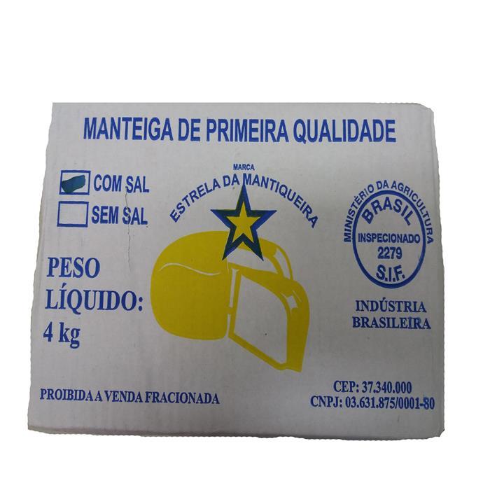 MANTEIGA C/ SAL EST. MANTIQUEIRA CX. 4KG