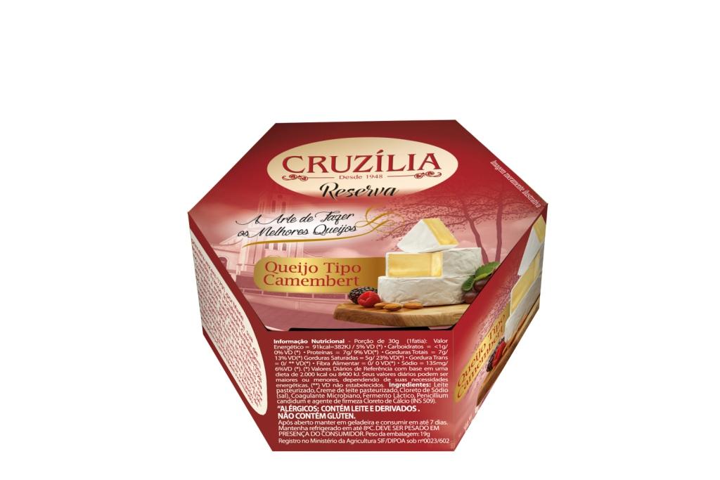 QUEIJO CAMEMBERT CRUZILIA CX8/+-0,280