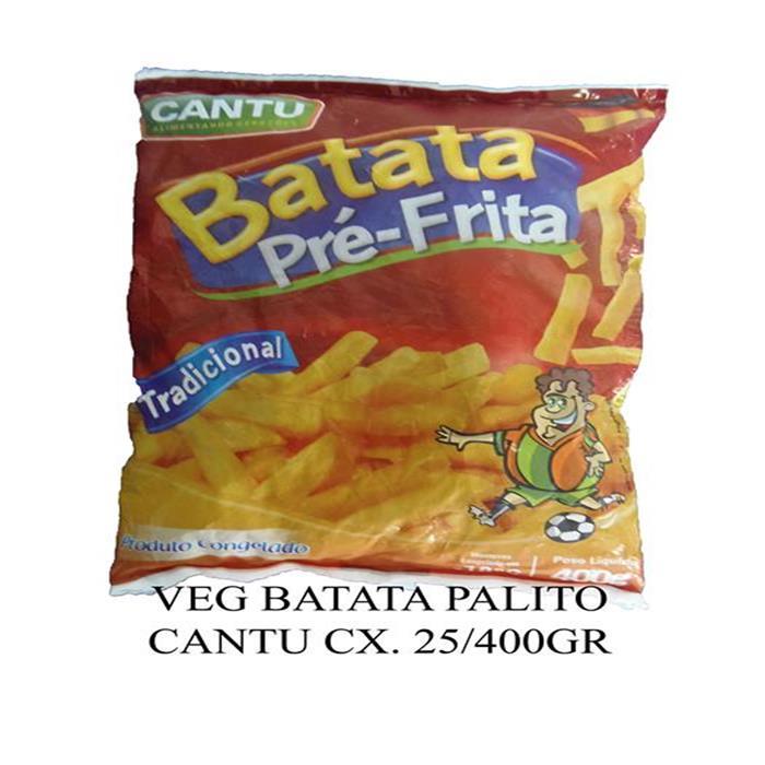 VEG BATATA PALITO CANTU CX. 25/400GR