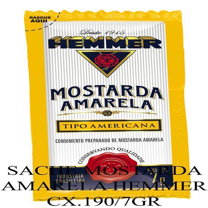 HEMMER SACHE MOSTARDA AMARELA CX.190/7GR